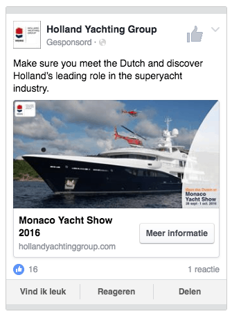 Facebook advertentie mobiel