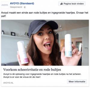 Facebook retargeting Avoyd
