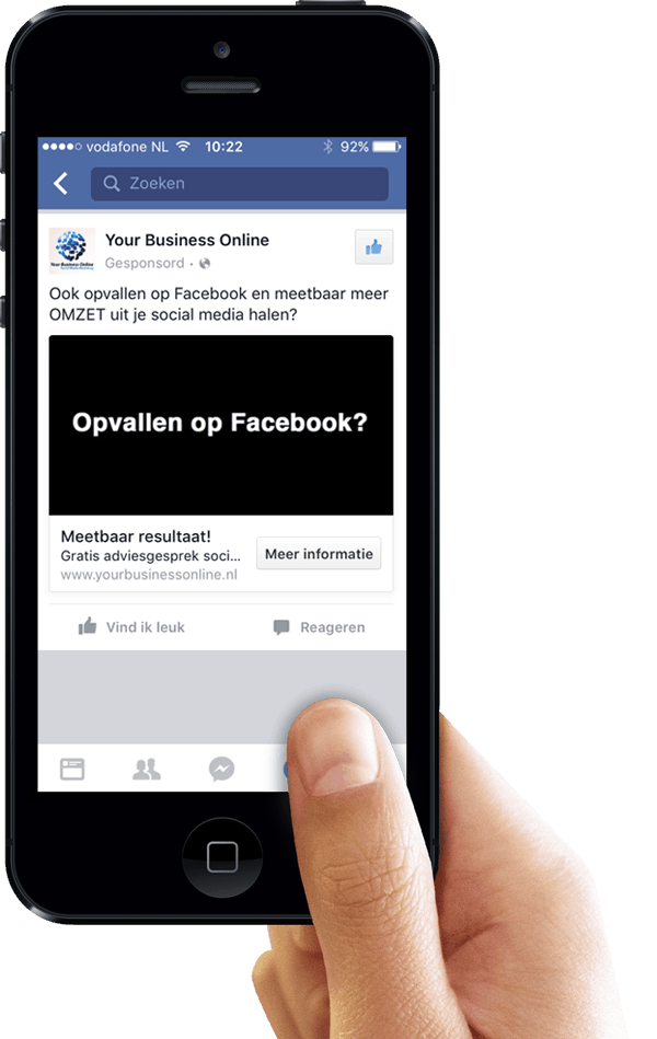 Facebook leads advertentie